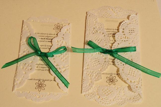 DIY Doily-Wrapped Invitations