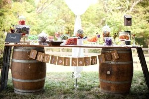 DIY-Wine-Barrel-Buffet-Table