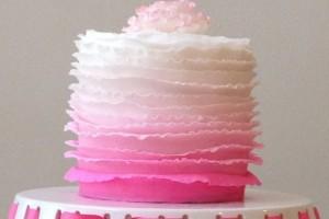 diy-ombre-ruffle-cake