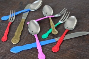 diy-painted-silverware