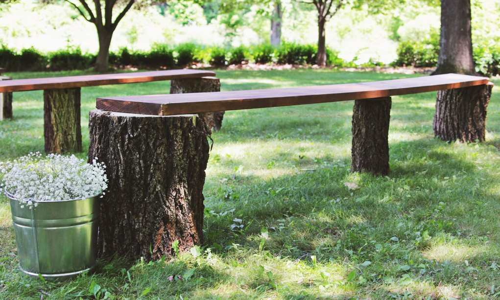diy tree stump benches i do