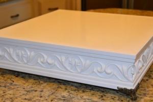diy-wood-molding-cake-stand