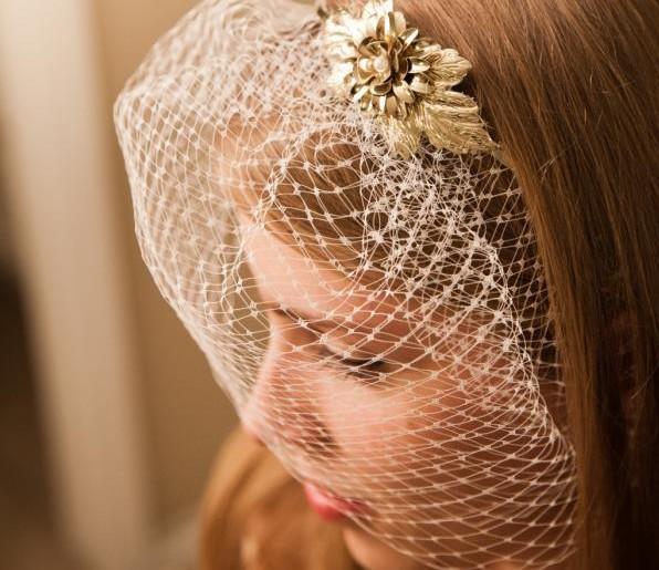 DIY Birdcage Veil Headband  81a21692409