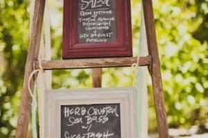 diy-framed-chalkboard-menu-ladder
