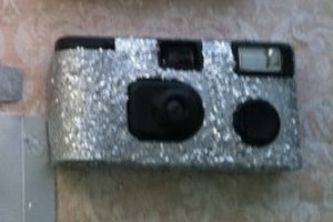 diy-glittered-disposable-camera
