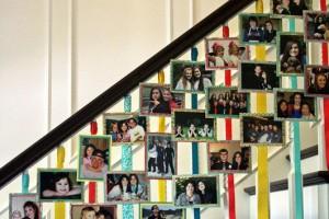 diy-staircase-photo-display