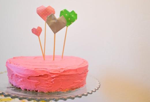 Diy Origami Heart Cake Toppers I Do Diys