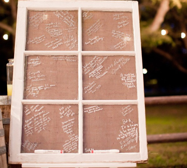 DIY Window Frame Guestbook