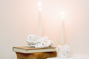 diy-faux-coral-candle-holders
