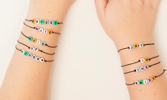 DIY Letter Bead Bracelets quotI Doquot DIYscom : diy letter bead bracelets from idodiys.com size 551 x 329 jpeg 27kB