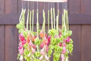 diy-hanging-flower-chandelier