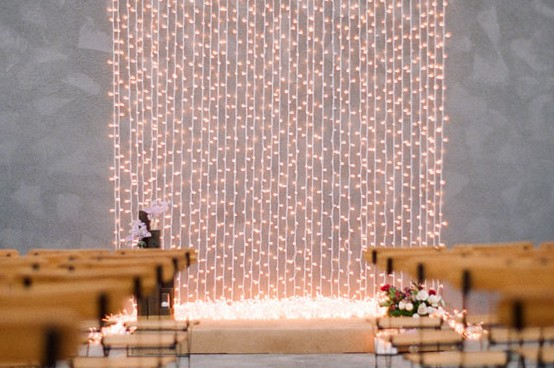 DIY String Lights Backdrop